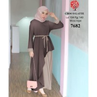 7671 Baju wanita muslimah polos busui syari gamis baju casual 7682