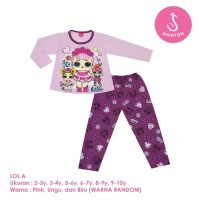 Baju Setelan Anak Perempuan Panjang 2-10 Tahun LOL A Shirton