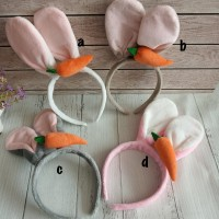 Bando kuping kelinci wortel / bando rabbit ear / bando impor halus