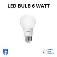 Philips LED Bulb/Bohlam 6 Watt (Kuning/Putih) - Putih