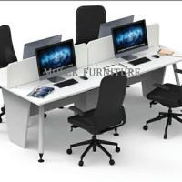 Meja Kerja team-Konfigurasi 4 orang-Office Plus-Molek_Furniture
