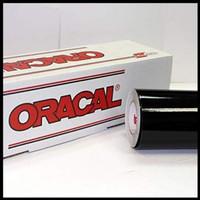 Oracal 651 070 Black Gloss/Matte(Doff) Meteran