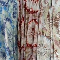kain bahan baju meteran katun rayon motif corak matahari