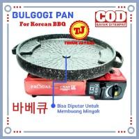 Paket BBQ Korea ( Kompor Portable Progas 2in1 + Bulgogi pan 32cm )