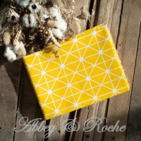 Kain Kanvas Impor Motif Yellow Stripes