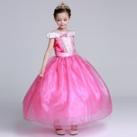 Dress Pesta Anak Perempuan / Baju Kostum Princess Aurora / Gaun Ultah