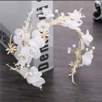 headpiece bunga / headpiece hijab hiasan sanggul pengantin 02