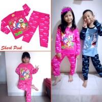 Baju Tidur Motif SHARK Laki Perempuan Piyama Anak Lucu MARUNO 0 -10Th
