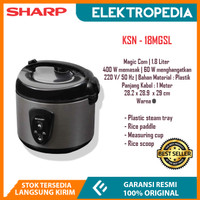 Sharp - Rice Cooker 1.8 Liter Silver KSN18MGSL