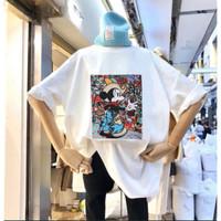 baju atasan kaos blouse oversized big size t shirt tee k pop slim size