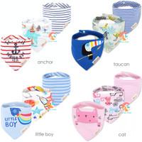MOM'S CARE 3 in 1 Baby Bibs - Slabber Segitiga - Celemek Bayi
