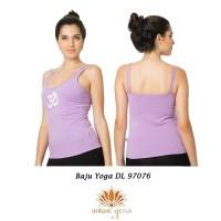 Baju Sports Yoga / Tanktop Ungu Senam Yoga Motif ohm DL 97076