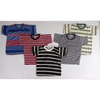Kaos Anak Laki Harian Salur Oblong Size S 1-2 Tahun Baju Murah