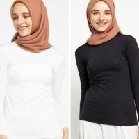 Baju atasan muslim wanita /manset lengan panjang /kaos polos murah dws