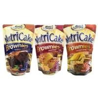 Nutricake tepung brownies rasa coklat/Tanpa mixer praktis Dan instan