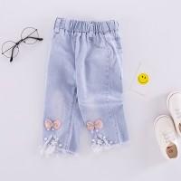 celana jeans anak perempuan umur 2-5 tahun classic fashion hiasan pita