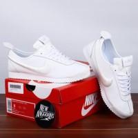 Sepatu Nike Cortez SL 72 Leather Obsidian Full All White Putih Polos