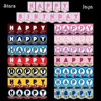 Banner Happy Birthday / Bunting Flag karakter