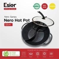 Esier Nero Ceramic Hotpot - Panci Shabu Shabu 2 Sekat