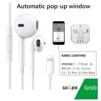 Handsfree iPhone 7 8 X Xr 11 -Earphone Headset Apple Original Lighting