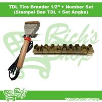Paket Stempel Ban Listrik TDL Tire Brander 1/2 Inch + Angka Set 0-9