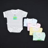 HAYAYO 1 Pcs Baju Kodok Segitiga / Jumper Bayi/Baby Salur (0-3M)