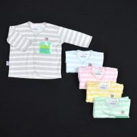 HAYAYO 1 Pcs Baju Lengan Panjang Bayi/Baby Salur (0-3M)