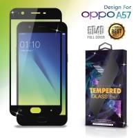 Premium Tempered Glass Oppo A57 Full Cover Black Anti Gores