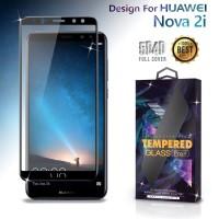 Premium Tempered Glass Huawei Nova 2i Full Cover Black Anti Gores