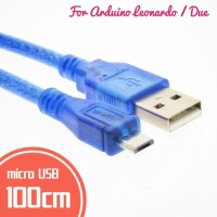 Kabel Data Micro USB untuk Arduino Leonardo Promicro 1M 100cm MicroUSB