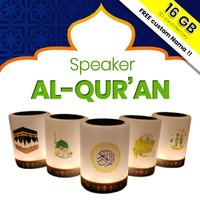SPEAKER QURAN LAMPU LED 30 Juz + Chip Memory Speaker Al Quran