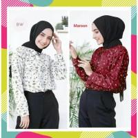 Baju Atasan Wanita Motif Bunga Bahan Monalisa/Flowery