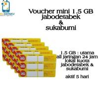 Voucher Paket Data INDOSAT MINI 1.5 GB lokal Jabodetabek & sukabumi