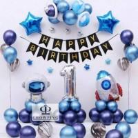 Paket Dekorasi Hiasan Balon Ulang Tahun / Happy Birthday Astronot 03
