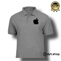 Baju polo 100% catton bordir apple