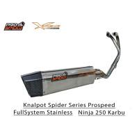 Knalpot Prospeed Spider Series Kawasaki Ninja 250 Karbu Stainless FS