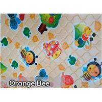 Perlak Bayi Kecil Pangku Travelling 40x35cm Alas Ompol - Orange Bee - KC