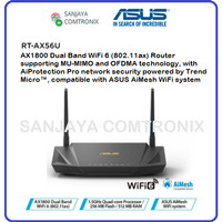 ASUS RT-AX56U AX1800 Dual Band WiFi 6 (802.11ax) Wireless Router