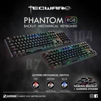 Tecware Phantom 87 Keys - Backlit Mechanical Ten Key Less Keyboard