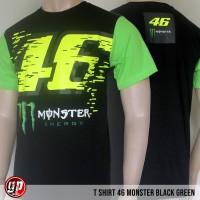 Kaos Motogp 46 Monster Black Green - M