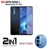 Tempered Glass OPPO RENO 4 Paket Pelindung Kamera Belakang Clear
