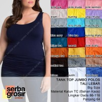 TANK TOP JUMBO POLOS Ukuran Besar - Tanktop Wanita Tali Lebar Big Size