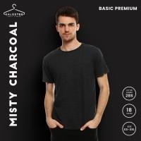 Kaos Polos KALOSTEE Premium Basic 28s 100% Cotton Misty Charcoal XXL