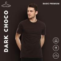 Kaos Polos KALOSTEE Premium Basic 28s 100% Cotton Dark Chocolate XS-XL
