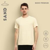 Kaos Polos KALOSTEE Premium Basic 100% Cotton Sand XXL-XXXL