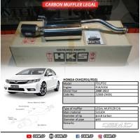 Knalpot HKS Civic FD 2006-2012 Carbon Muffler LEGAL 32008-ZH001