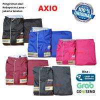 Jas Hujan AXIO ORIGINAL Mantel Motor Baju Celana Raincoat Pria Wanita - Biru, M