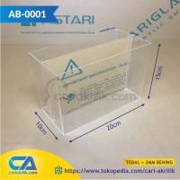 Aquarium Akrilik / Soliter Uk. 20Cm x 10Cm x 15Cm