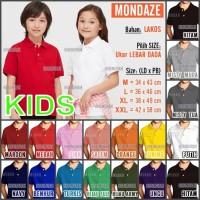 Kaos Polo Shirt / Kerah Polos MONDAZE - Anak - Pendek - size XL, Merah Muda