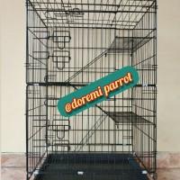 KHUSUS GOJEK/GRAB Kandang Kucing 60 Tingkat 3 Ukuran 60x40x90